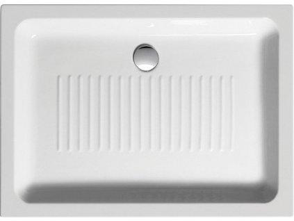 Keramická sprchová vanička, obdélník 100x72x11cm