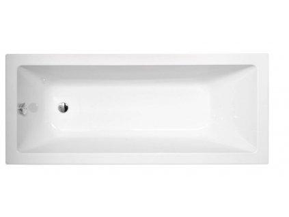 POLYSAN NOEMI obdélníková vana 160x70x39cm, bílá 71707 - Vany > Obdelníkové vany