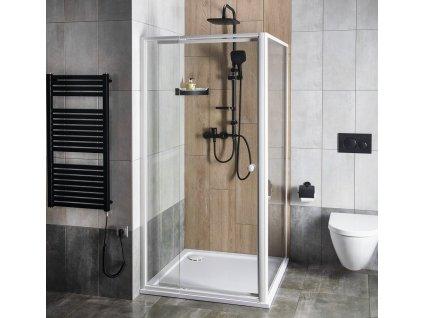 AQUALINE AMICO sprchové dveře výklopné 740-820x1850 mm, čiré sklo