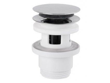 Uzavíratelná kulatá výpust pro umyvadla s přepadem Click Clack, V 30-45 mm,chrom