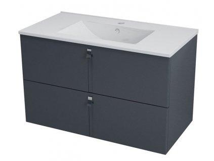 SAPHO MITRA umyvadlová skříňka 89,5x55x45,2 cm, antracit MT092