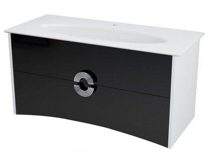 SAPHO AVEO umyvadlová skříňka 114x58x49cm, bílá/černá AV120