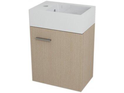 Sapho LATUS V umyvadlová skříňka 35,6x40x23cm, Dub benátský (LT061) - LT056-1414