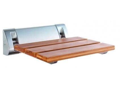 AQUALINE Sprchové sedátko 32x32,5cm, sklopné, bambus
