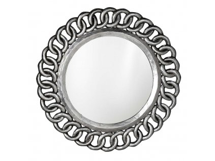 SAPHO CERCLE kulaté zrcadlo v rámu, 80x80cm, stříbrná