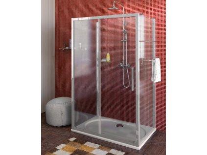 POLYSAN Lucis Line třístěnný sprchový kout 1000x800x800mm L/P varianta