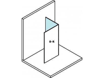 POLYSAN MODULAR SHOWER pevný panel k instalaci na stěnu modulu MS2, 300 mm, pravý