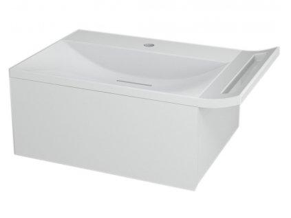 SAPHO ZEUS umyvadlová skříňka vč. sifonu 60x26x45 cm, bílá ZE070