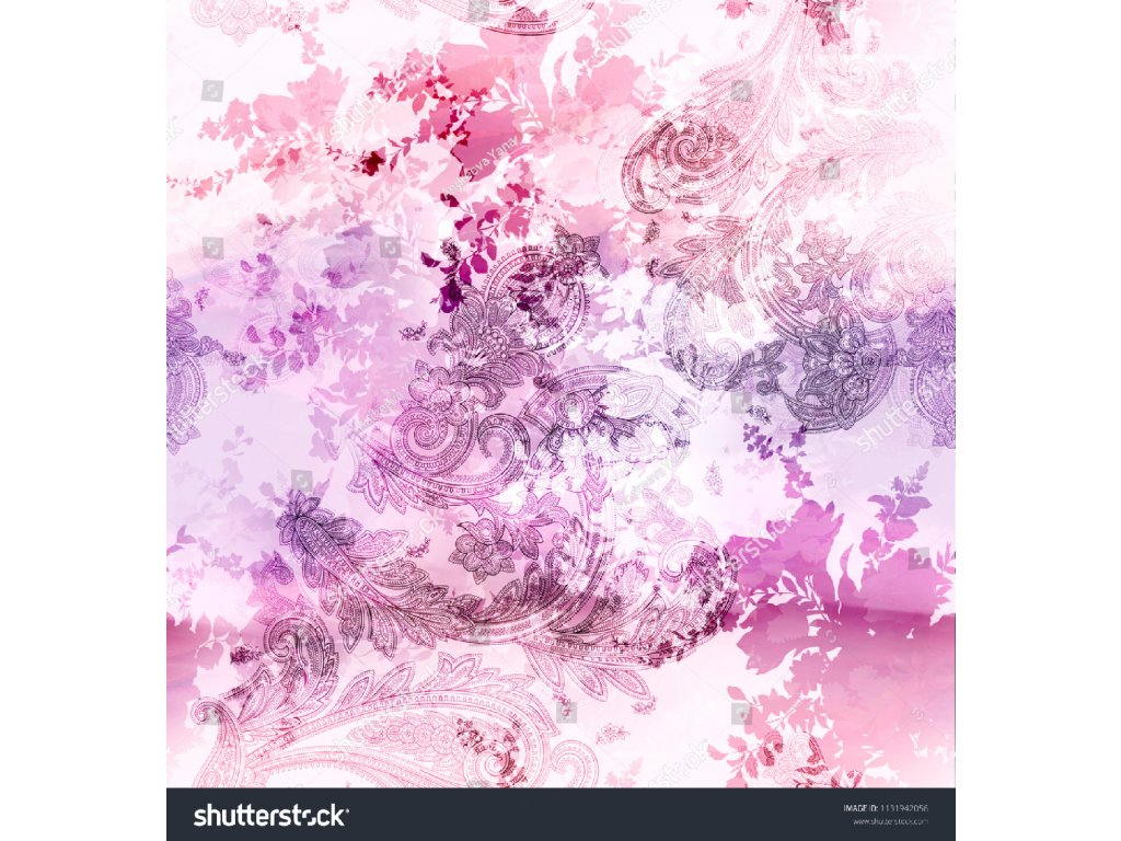 stock photo beautiful floral and paisley pattern 1131942056