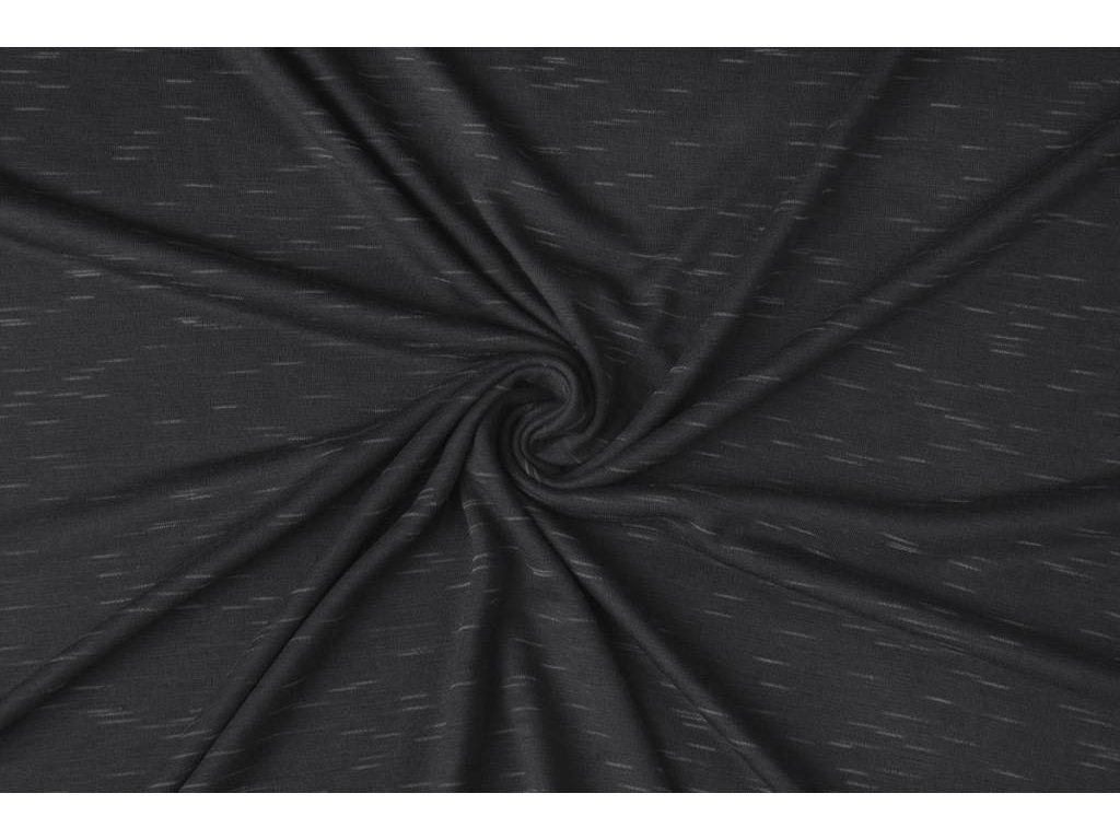 viscose melange slub donker grijs