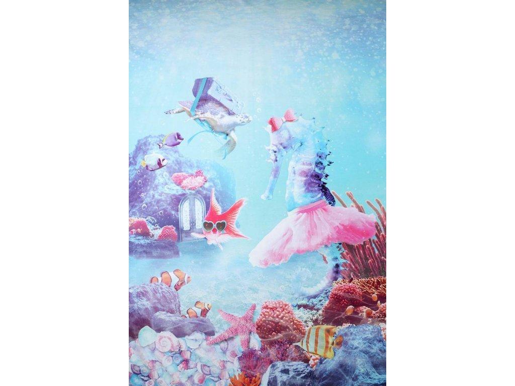 digital printed ballerina seahorse panel