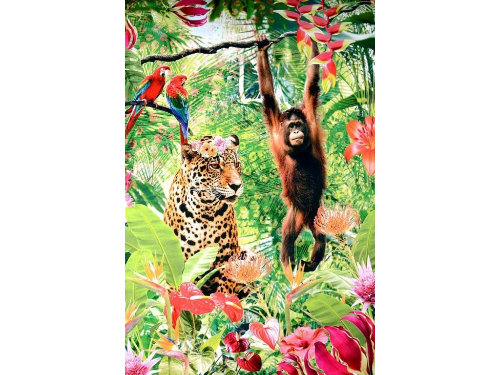 digital printed jungle fever panel