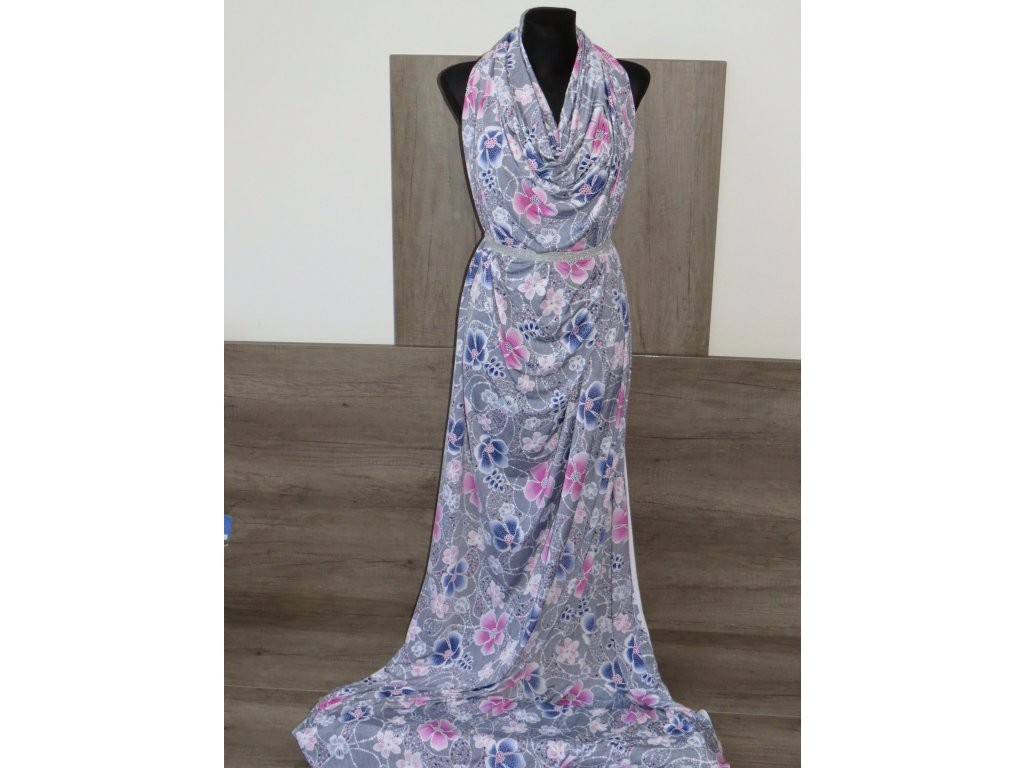 Šatovka šedá, růžové a modré květy 1.85 metru