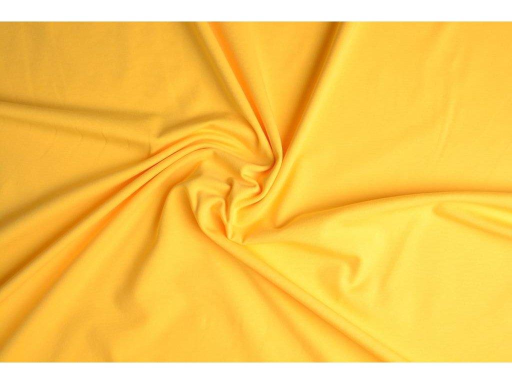 cotton jersey citroen geel