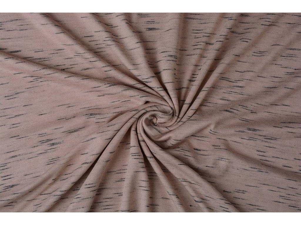 viscose slub melange powder pink