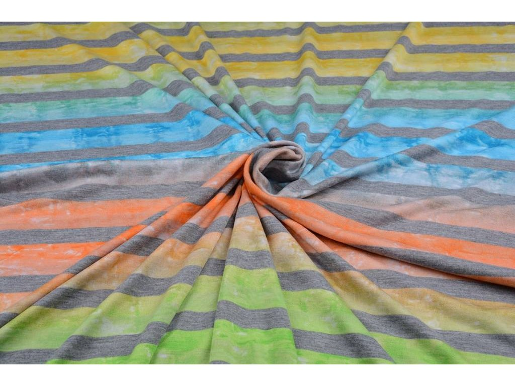 jersey viscose big stripe multicolor 4
