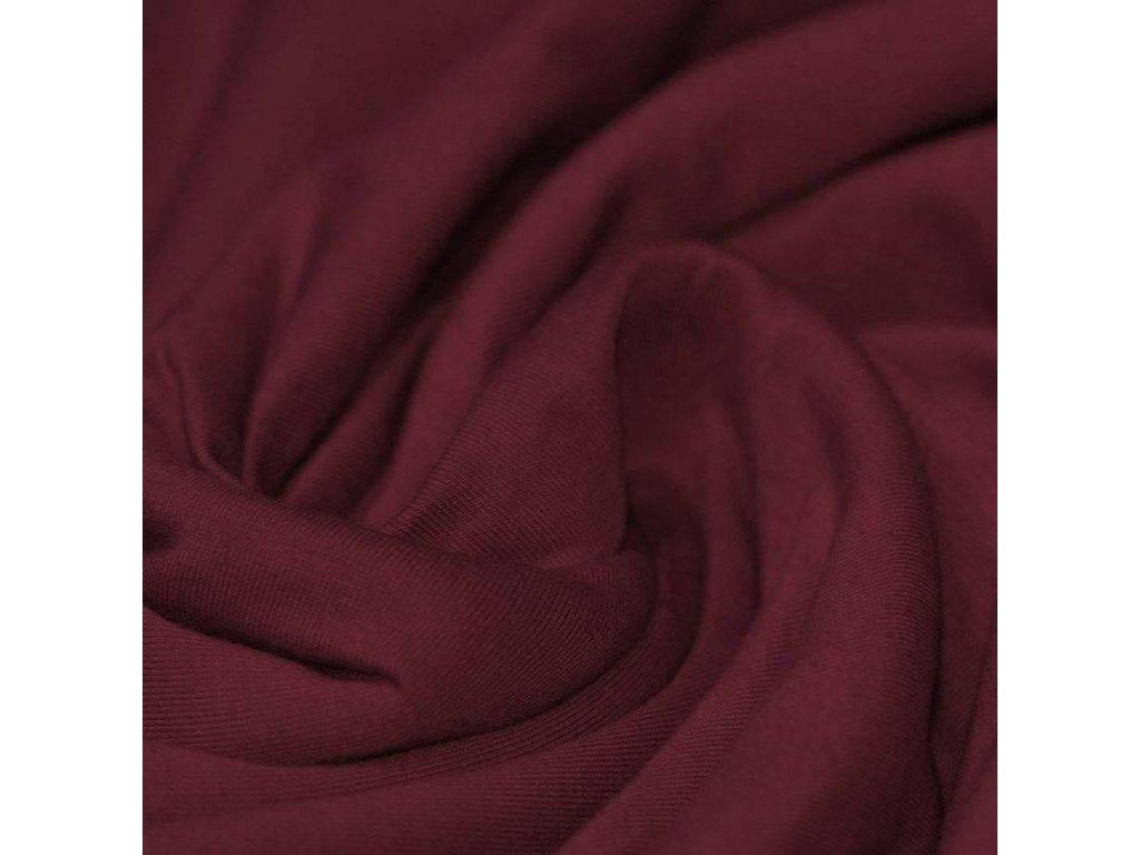 Bordeaux Cotton Jersey