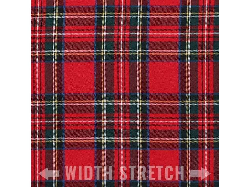 Scottish Tartan Fabric Red Stuart 800x800
