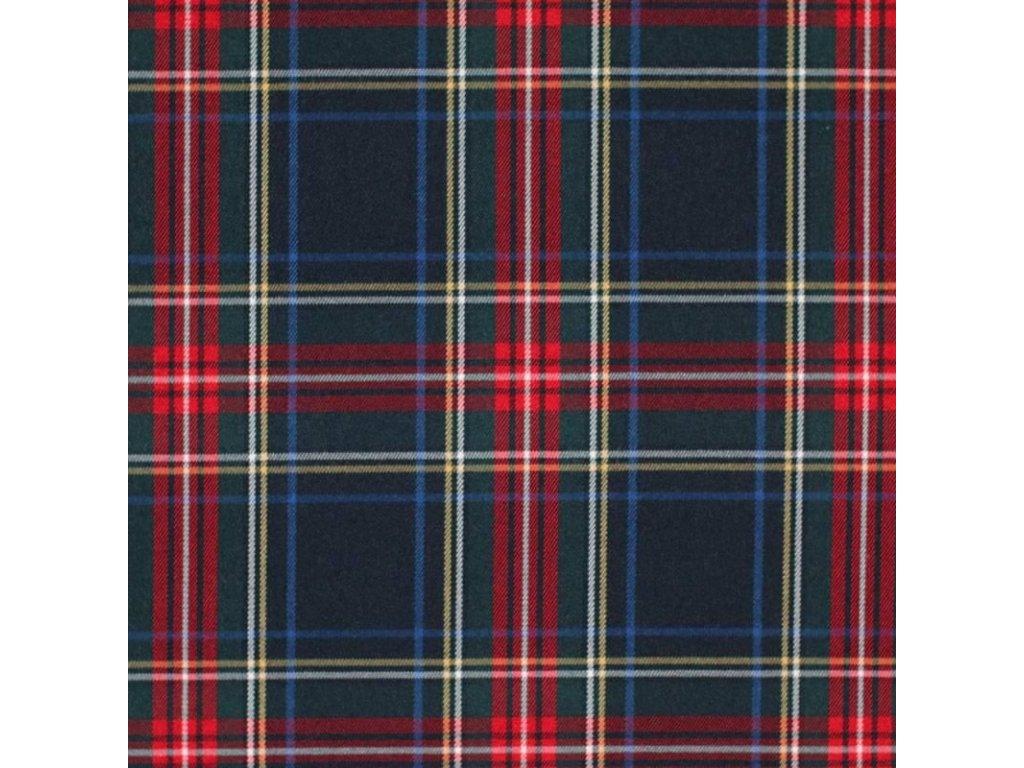 Scottish Tartan Fabric Navy Stuwart 800x800
