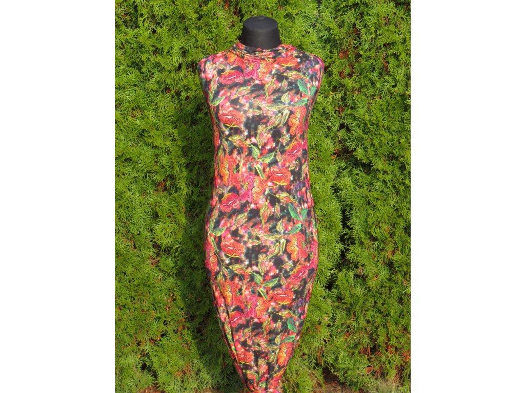 Vis.úplet š. 175 cm,  květinový vzor