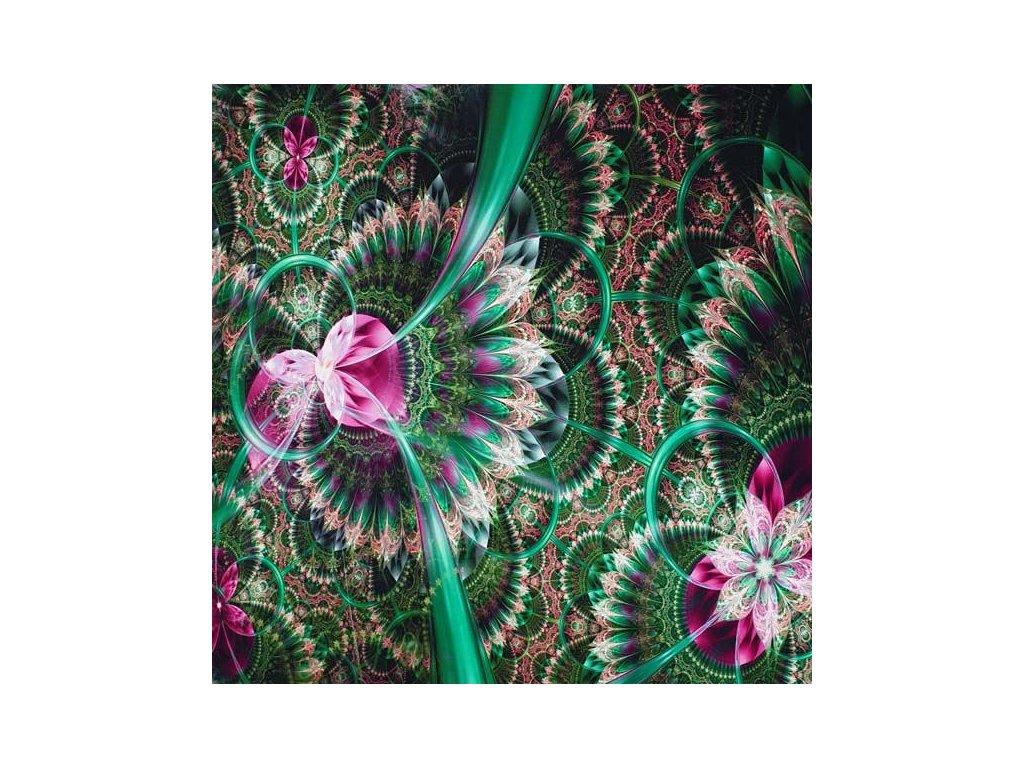uplet zeleno ruzovy abstraktni vzor s 175