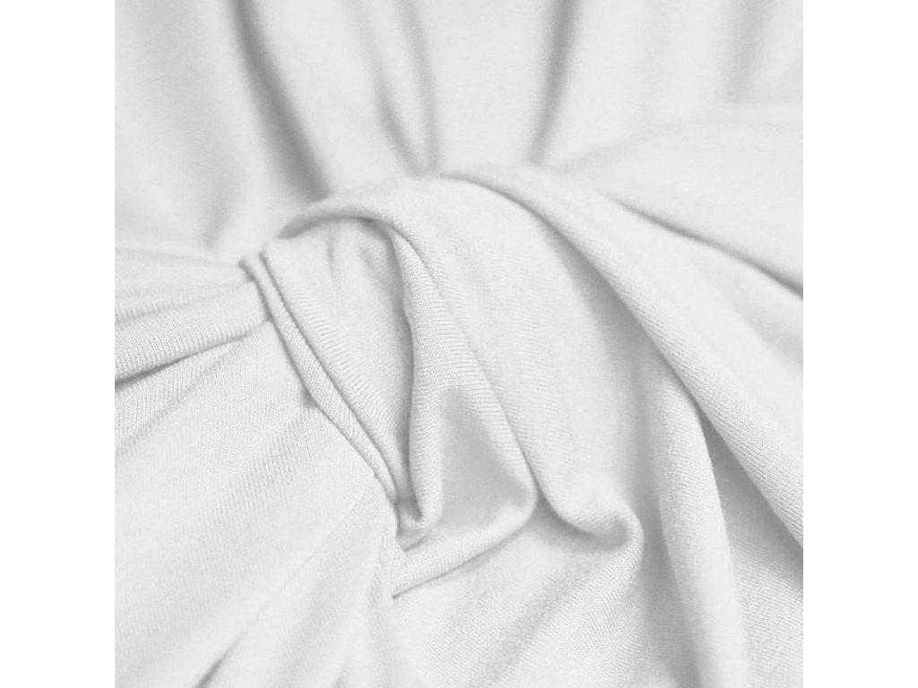 Viskózový úplet UNI BILÝ barvený šíře 175 cm - VOLNÝ
