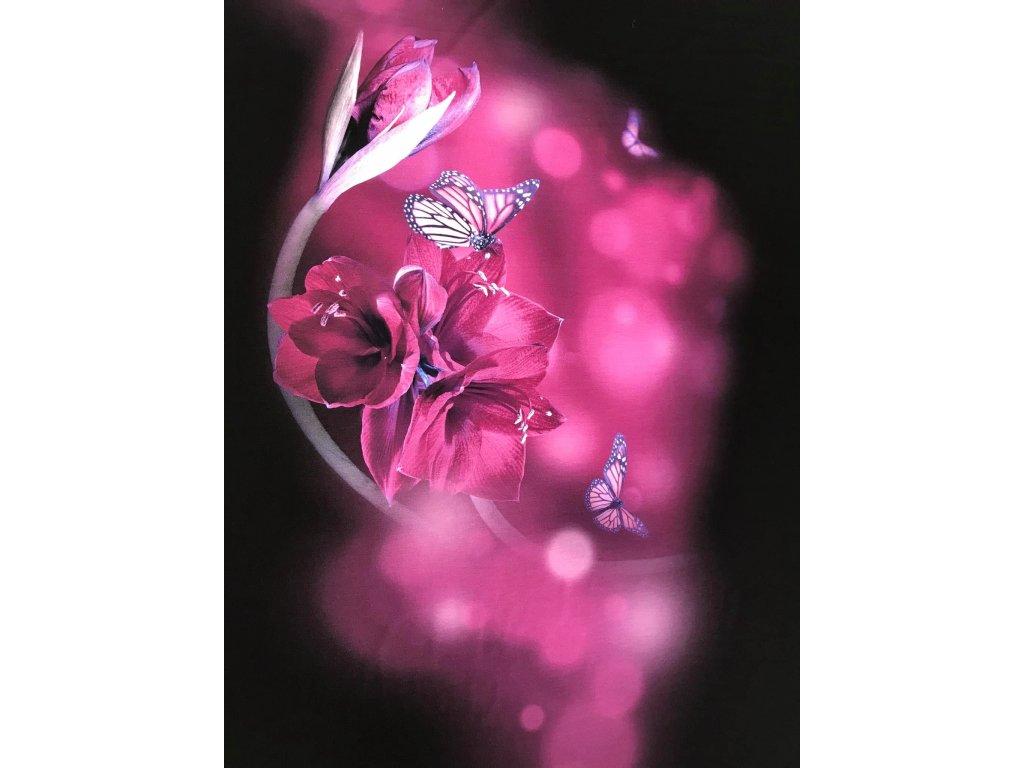Vis.úplet š. 175 cm,  pestrobarevný úplet, fiaový vzor