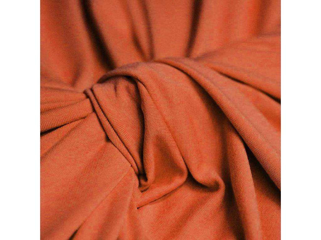 Viscose Jersey Burnt Orange 800x800
