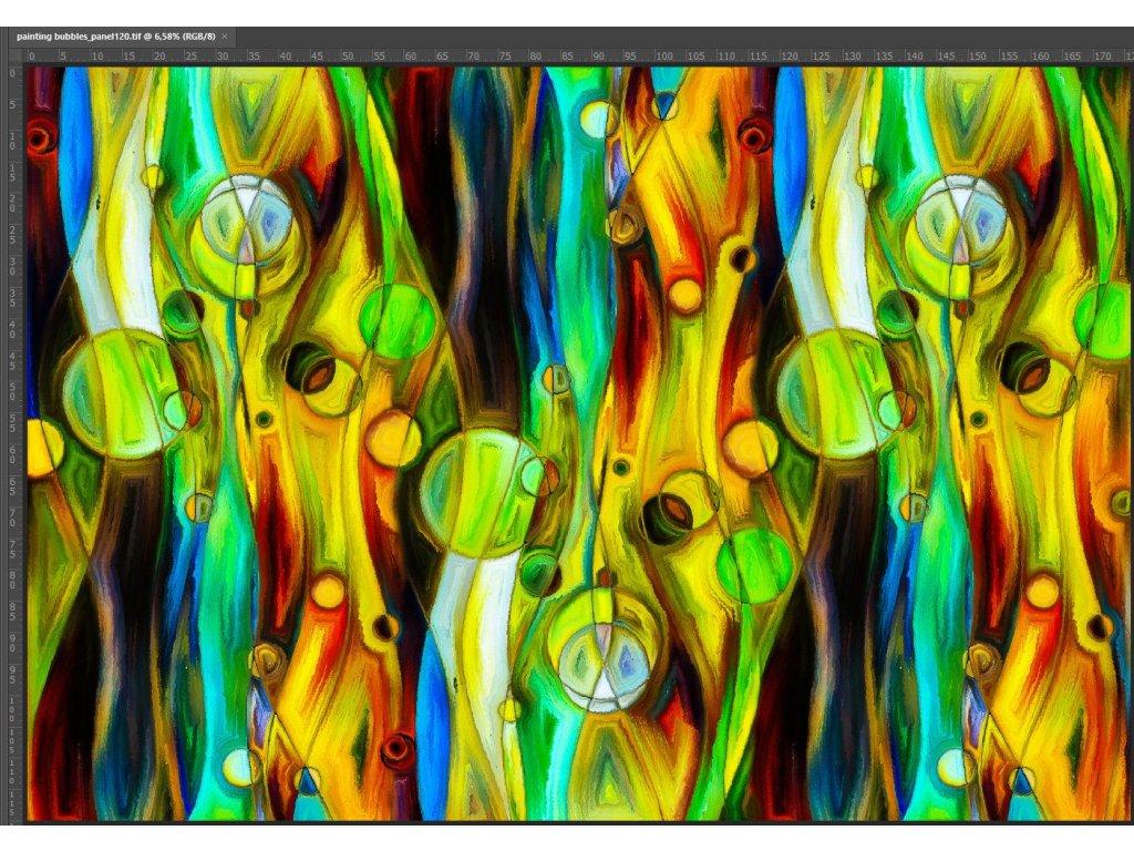 Bavlněný úplet s dig.tiskem, 220 g/m2, šíře 180, panel, abstrakce