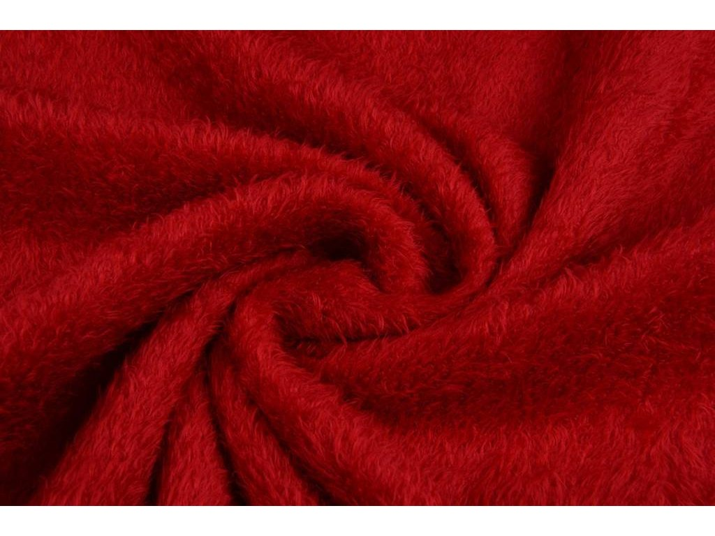 mouse fleece red