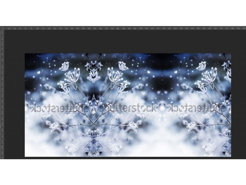 Teplákovina NEpočesaná,  zmrzlý kmín, panel délky cca 90-100 cm