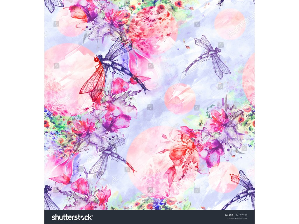 stock photo seamless watercolor background with perfume bottle flowers paint splash watercolor card with a 1341717293