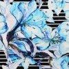 R471719 Digital Print Viscose Big flower on stripe blue 800x800