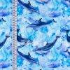 Úplety s digitálním tiskem  - delfíni