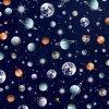 Úplet French terry vesmír - s jemným počesem