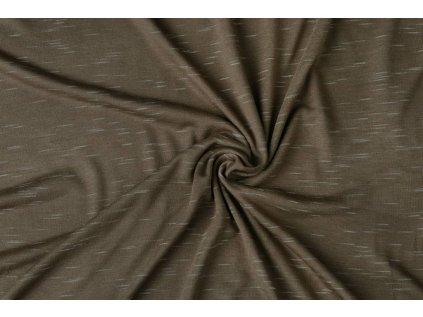 viscose slub melange mokka brown