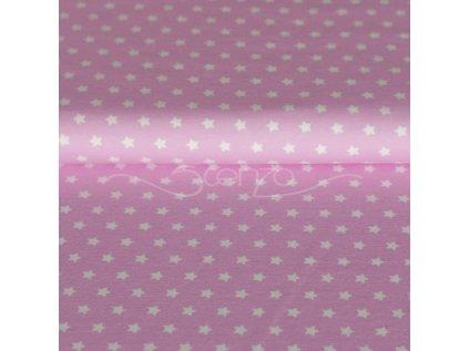 Bavlněný úplet šíře 150 až 160 cm,  hvězdičky