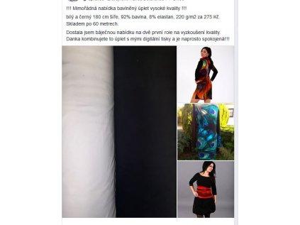 Bavlněný úplet jednobarevný 220 g/m2, šíře 180 cm