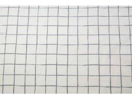 Popelín čtverečkovaný