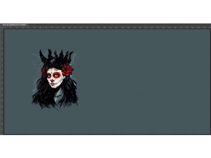 Bavlněný úplet š. 180 cm, Mrtvá nevěsta