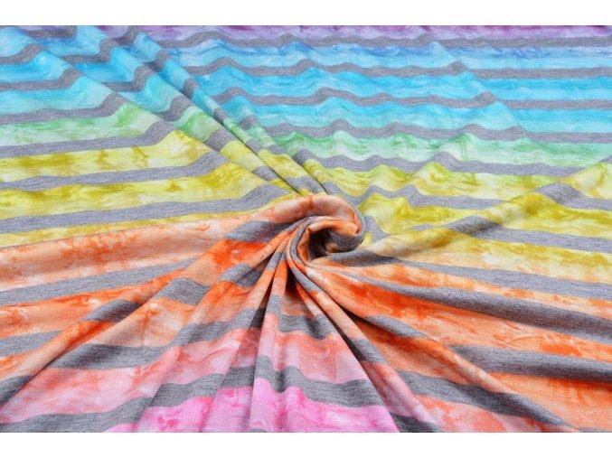 jersey viscose big stripe multicolor 1