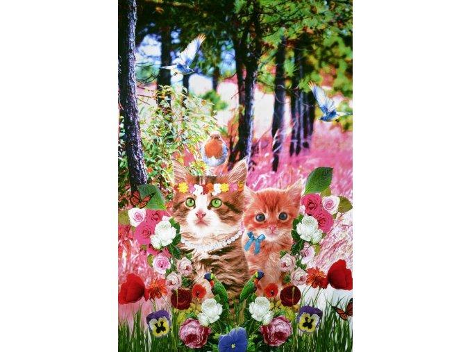 digital printed cats panel