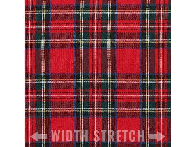 Scottish Tartan Fabric Red Stuart 800x800