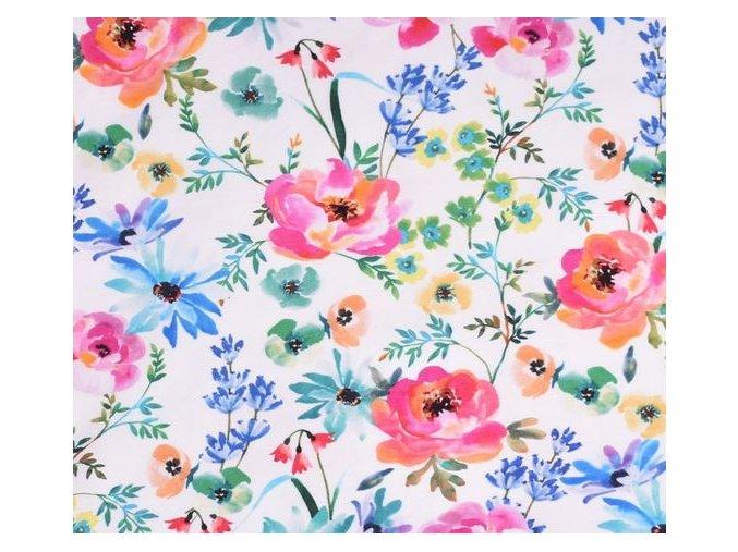Úplet s květinami, digitální tisk