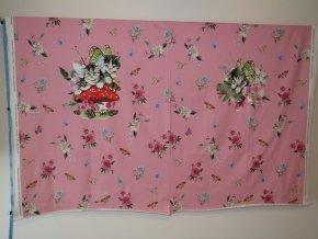 úplet kočičky na růžovém podkladu (panel 120 x 150 cm)