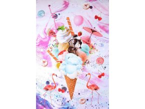 digital printed summer icecream panel