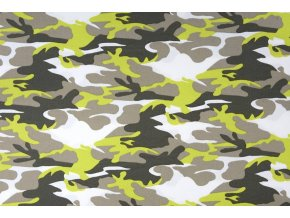 armyprint 100 cotton lime