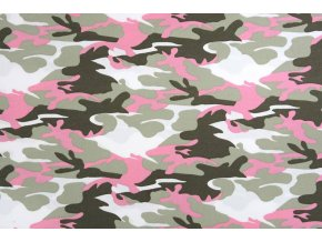 armyprint 100 cotton pink
