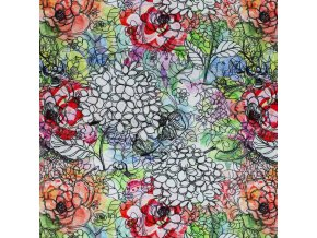 R100005 Viscose Jersey Digital drawn flower 800x800