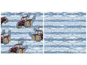 Teplákovina French Terry - Traktory